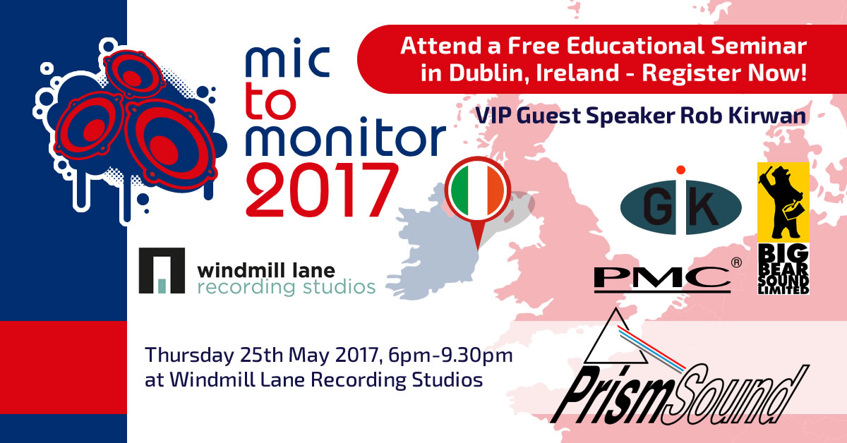 Mic to Monitor live 2017 windmill lane recording studios